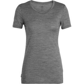 Icebreaker Tech Lite Panax t-shirt Dames, gritstone heather